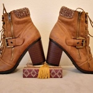 JustFab Suade Ankle Boots